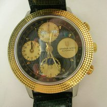 Universal Genève Compax Gold/Steel 39mm Black No numerals United States of America, California, Cathedral City