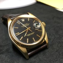 Rolex Datejust - 16018 - Yellow Gold - Black Dial - 1984 - FULL