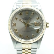 Rolex Datejust pre-owned 36mm Grey Date Gold/Steel