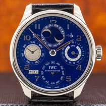 IWC Portuguese Perpetual Calendar White gold 44.2mm Blue Arabic numerals United States of America, Massachusetts, Boston