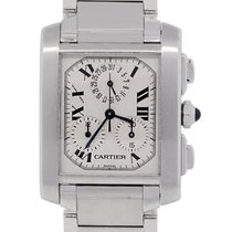 Cartier Tank Française pre-owned 28mm White Steel
