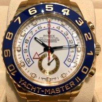 Rolex Yacht-Master II Zuto zlato 44mm Bjel Bez brojeva