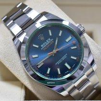 Rolex Milgauss Steel 40mm Blue No numerals