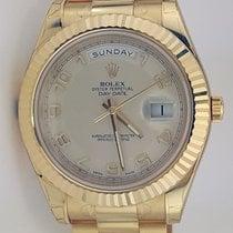 Rolex Day-Date II President Yellow Gold - Fluted Bezel REF:218238