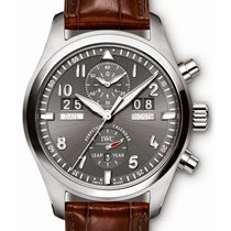 IWC Pilot Spitfire Perpetual Calendar Digital Date-Month Stal 46mm Arabskie