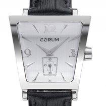 Corum Trapeze Steel 36mm Silver Arabic numerals