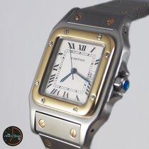 Cartier Santos 18k Gold Steel Two Tone Automatic Circa 1990