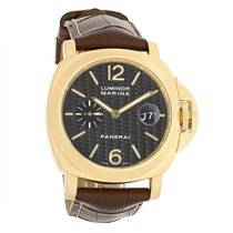 Panerai Luminor Marina Mens 18k Yellow Gold Automatic Watch...