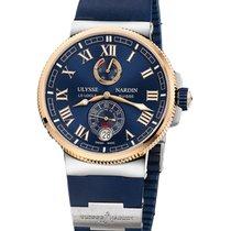 Ulysse Nardin Marine Chronometer Manufacture Steel 43mm Blue Roman numerals