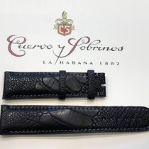 Cuervo y Sobrinos Parts/Accessories new Ostrich skin Black