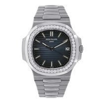 パテック フィリップ Nautilus 40 18K White Gold Diamond Bezel Watch...