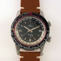 Enicar Vintage 146-001 Sherpa Guide33 World Time Pilot GMT 64's