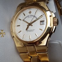 Vacheron Constantin Yellow gold Automatic White No numerals 37mm pre-owned Overseas