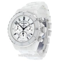 Chanel Chronograph 41mm Automatic 2008 pre-owned J12 White