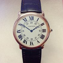 Cartier Ronde Louis Cartier Or rose 36mm Argent Romains