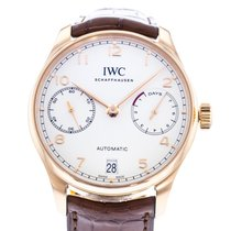IWC Portuguese Automatic pre-owned 42mm Silver Date Leather