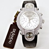 DeLaneau Or blanc 38mm Remontage automatique New $32,000.00 DELANEAU  18 K WHITE GOLD AND DIAMONDS nouveau