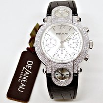 DeLaneau Oro bianco 38mm Automatico New $32,000.00 DELANEAU  18 K WHITE GOLD AND DIAMONDS nuovo