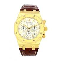 Audemars Piguet Royal Oak Chronograph Жёлтое золото 39mm Белый