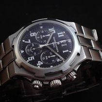 Vacheron Constantin Overseas Chronograph Steel 40mm Black Arabic numerals