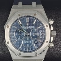 Audemars Piguet Royal Oak Chronograph pre-owned 41mm Blue Chronograph Date Rubber