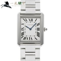 Cartier Tank Solo Stahl 34.8mm Silber