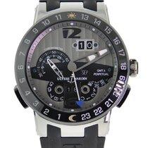 Ulysse Nardin El Toro / Black Toro pre-owned 43mm Silver Date Perpetual calendar GMT Rubber