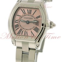 Cartier Roadster Small, Pink Dial - Stainless Steel on Bracelet