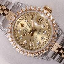 Rolex Lady Datejust 18k Steel-Champagne String Diamond...
