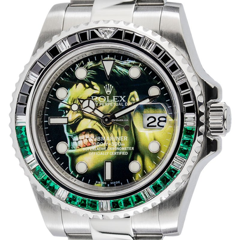 rolex submariner hulk custom design watch 116610ln f r preis auf anfrage kaufen von einem. Black Bedroom Furniture Sets. Home Design Ideas