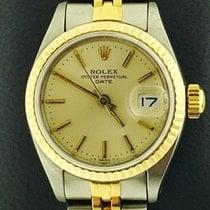 Rolex Lady-Datejust Золото/Cталь 26mm Cеребро Без цифр