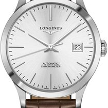 Longines Steel Automatic Silver 40mm new Record