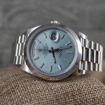 Rolex 228206 Day-Date 40 Platinum Ice blue dial