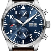 IWC Pilot Chronograph Steel 43mm Blue Arabic numerals United States of America, Iowa