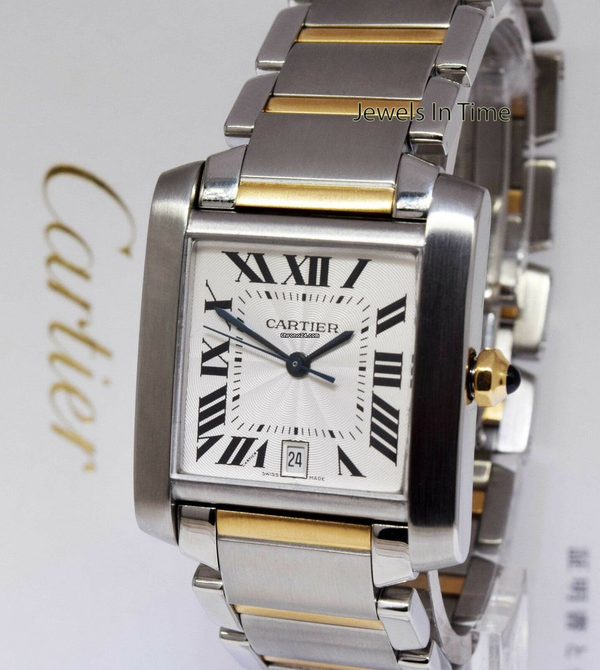 662c2774579 Cartier Tank Francaise 2302 Large Steel   18K Gold Automatic... for ...