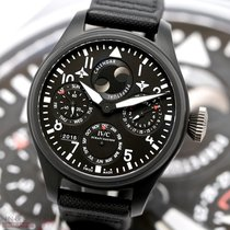 IWC Big Pilot Top Gun Керамика 48.5mm Чёрный Aрабские