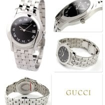 Gucci Steel 42mm Quartz YA055302 new