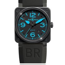 Bell & Ross Ceramic Automatic Black Arabic numerals 42mm pre-owned BR 01-94 Chronographe