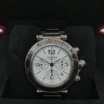 Cartier Pasha Seatimer Stahl 42mm Weiß Arabisch