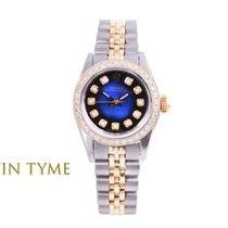 Rolex Oyster Perpetual Aur/Otel 24mm Albastru