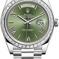 Rolex Day-Date 40 Platina 40mm Zelená