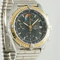 Breitling Chronomat gebraucht 39mm Schwarz Chronograph Datum Gold/Stahl