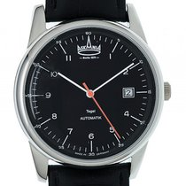 Askania Tegel Steel 40mm Black Arabic numerals