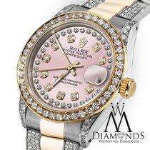 Rolex Lady-Datejust Arany/Acél 31mm Pink Számjegyek nélkül