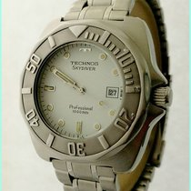 Technos Sky Diver Professional 1000M 6M12-EL 42X45mm White...