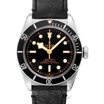 튜더 (Tudor) Heritage Black Bay Black Steel/Leather 41mm - 79230N