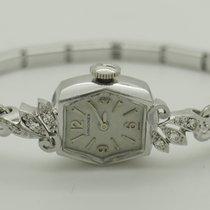 Longines Vintage Ladies 4LLV 14K White Gold Diamond  Stretchy...