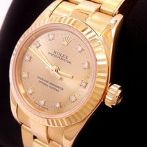 Rolex Yellow gold Automatic Gold 24mm pre-owned Oyster Perpetual