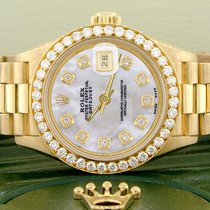 Rolex Or jaune Remontage automatique Nacre 26mm occasion Lady-Datejust