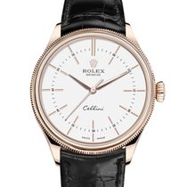 Rolex Cellini Time Oro rosado 39mm Blanco Sin cifras
